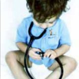 toddler with stethoscope