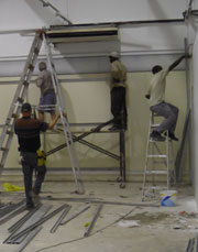 shopfitters at work