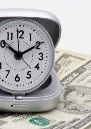 alarm clock with money