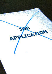 job application crossed out