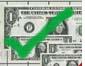 green tick on money