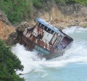 wrecked boat