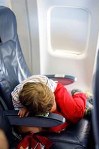 little boy in aeroplane