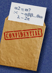 envelope with confidential information