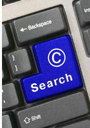 copyright search button