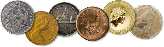 coins from various countries