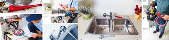 collage of plumbing work