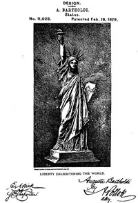 design patent for Statue of Liberty