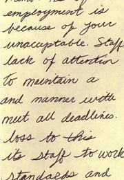 employee warning memo