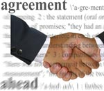 handshake over agreement