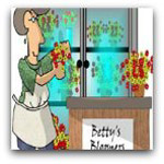 Flowershop cartoon