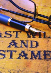 last will spectacles and pen