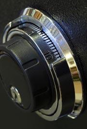 combination lock on safe