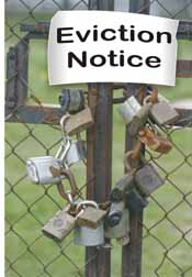 eviciton notice on padlocked gate