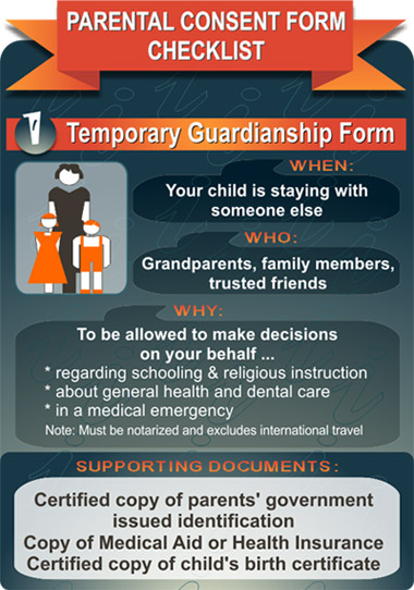 temporary guardianship form infographic