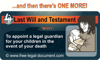 reason to appoint guardian in a will