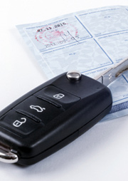car keys and registration form