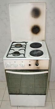 broken stove