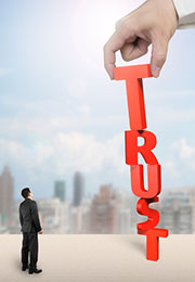 man and trust word