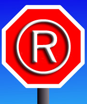 stop sign and TM symbol