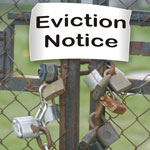 eviction notice on gate