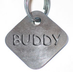 dog tag with Buddy embossed