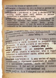 affidavit and notary public in dictionary