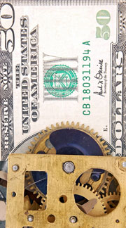 clock mechanism on dollar