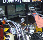 down payment on bike