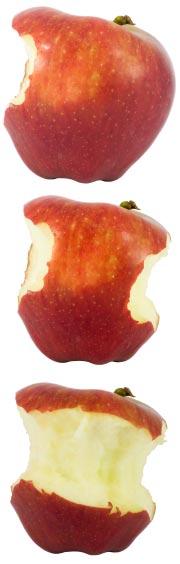 bites of apples