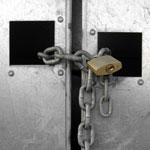chain and lock on door