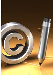 copyright symbol and pen