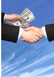 exchanging cash
