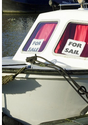 boat with for sale sign