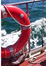 red boat life belt