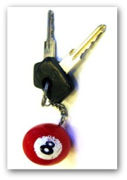 car keys on keyring