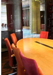 table in boardroom