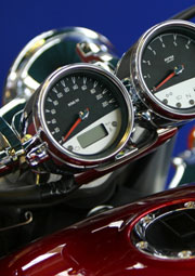 instrument panel of motorcycle