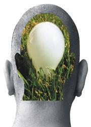 head with lightbulb idea