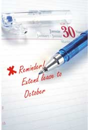 reminder note to extend lease