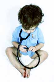 little boy with stethoscope