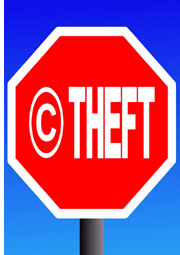 stop sign with copyright
