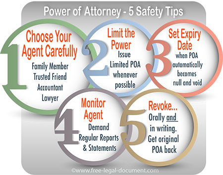 power of attorney safety tips