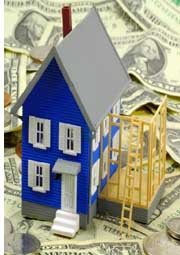 model of house and money