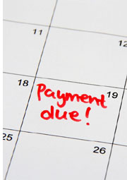 calendar with payment due