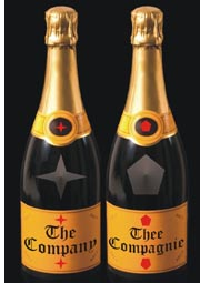 similar branding on sparkling wine