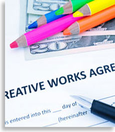 crayons on creative works agreement