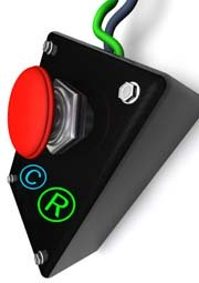 red stop button on control box