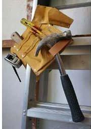 toolbelt on ladder