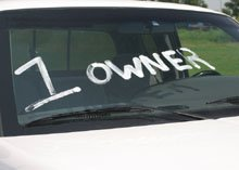 1 owner on windscreen